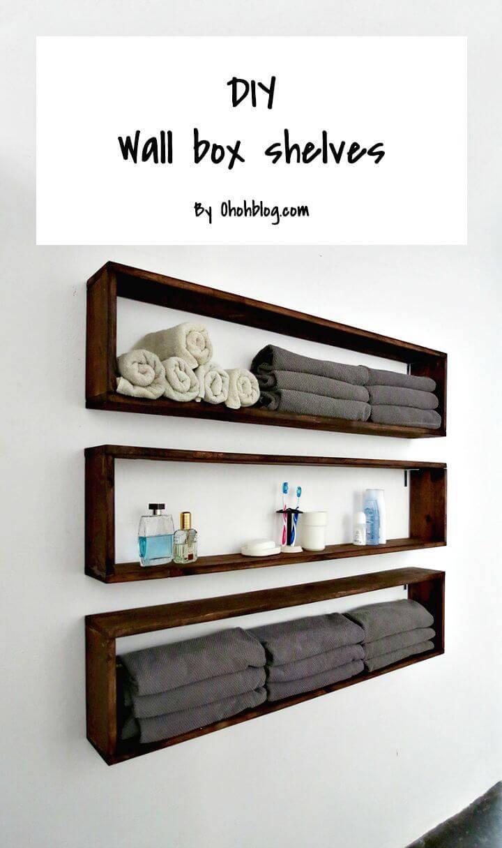 Easy To Make Bathroom Shelves