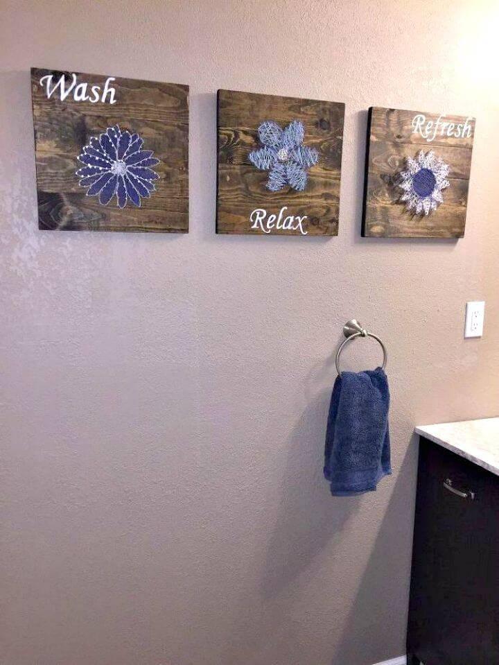 Easy To Make Bathroom Wall Art