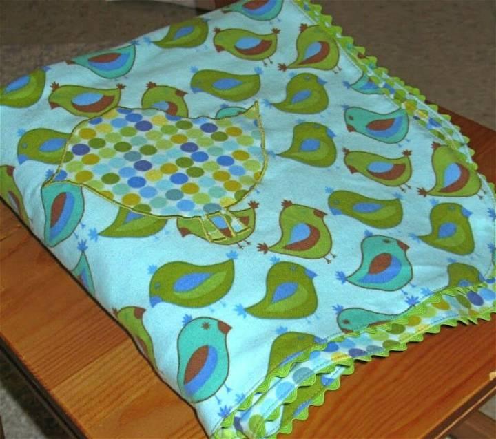 Easy to Make Ric Rac Receiving Blanket