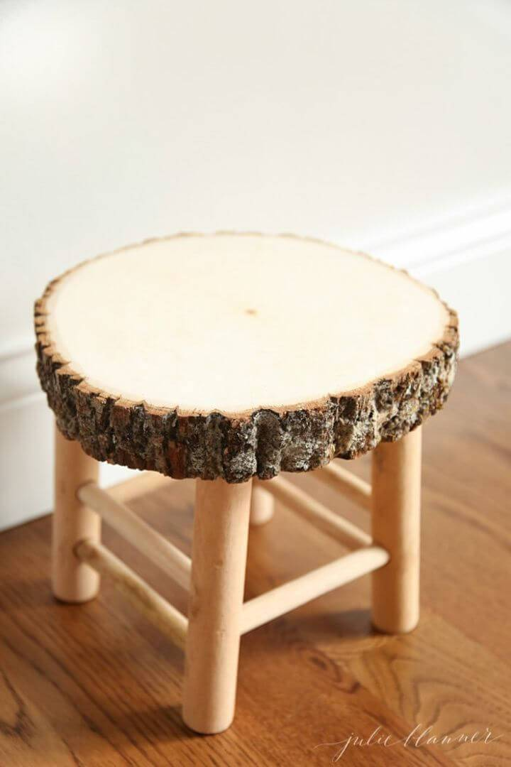 Easy to Make Rustic Wood Stool