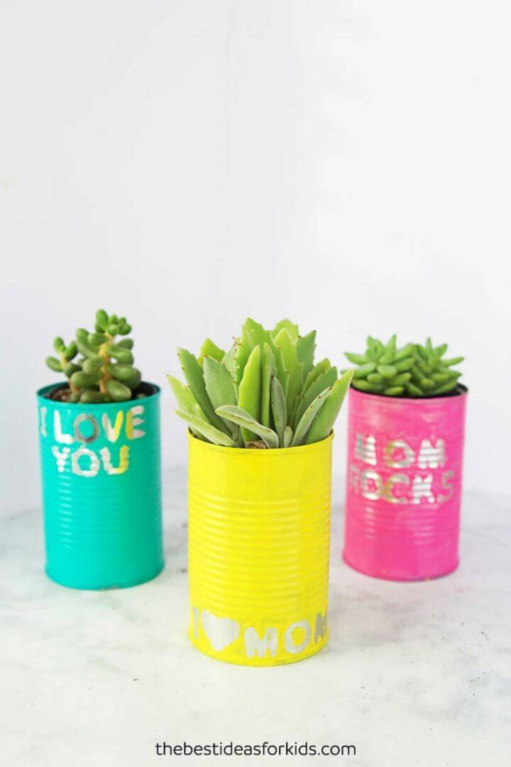 Homemade Tin Can Planters