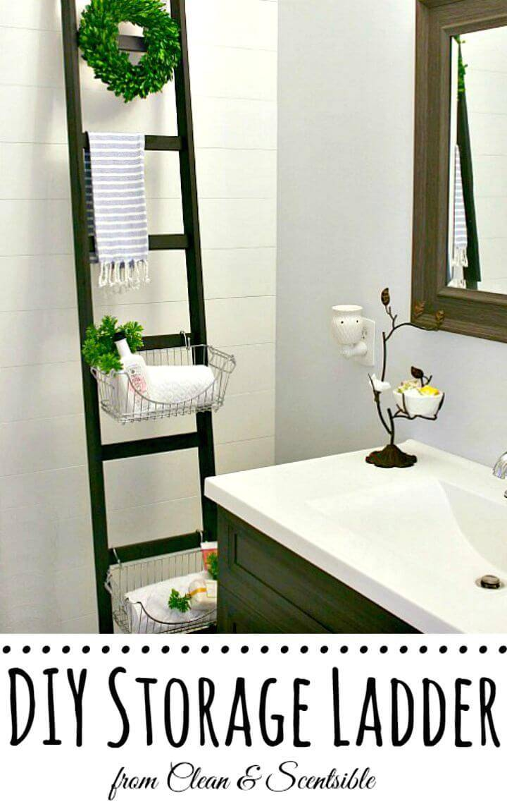 How To Make Bathroom Storage Ladder