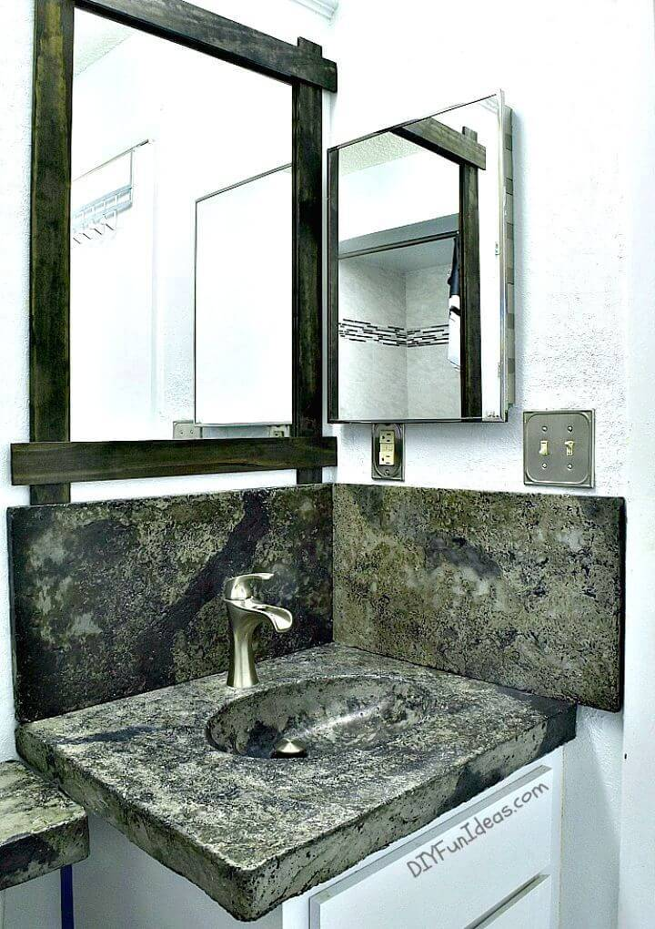 How To Make Concrete Vanity Sink