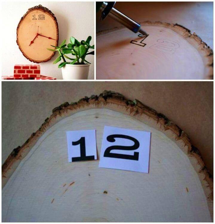 How To Make Wood Slice Clock