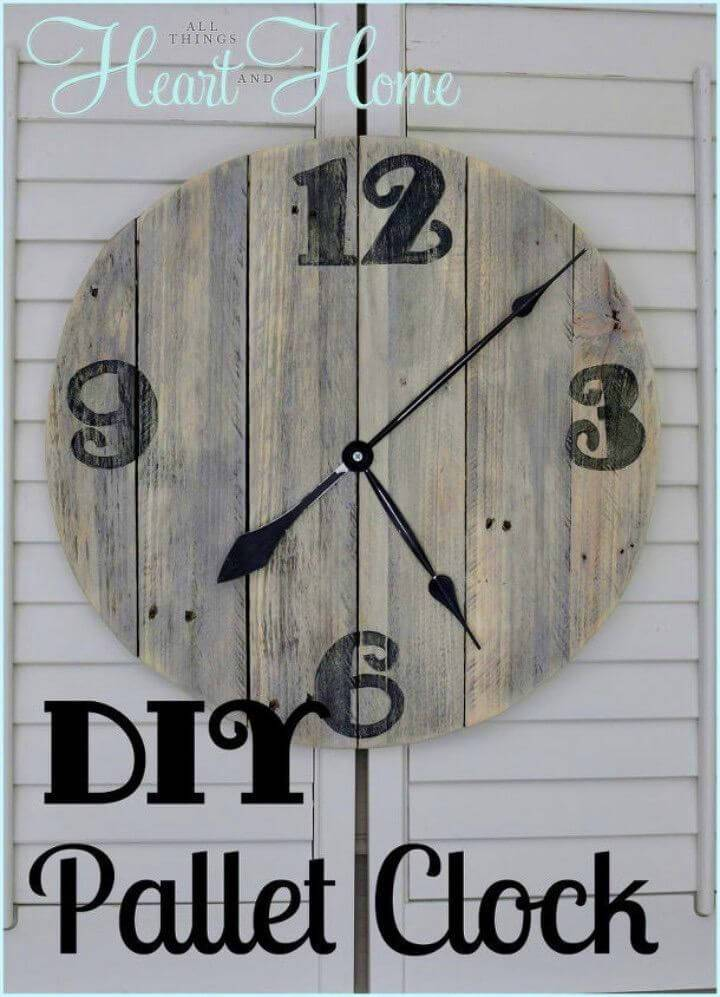 How To Turn a Pallet into Clock
