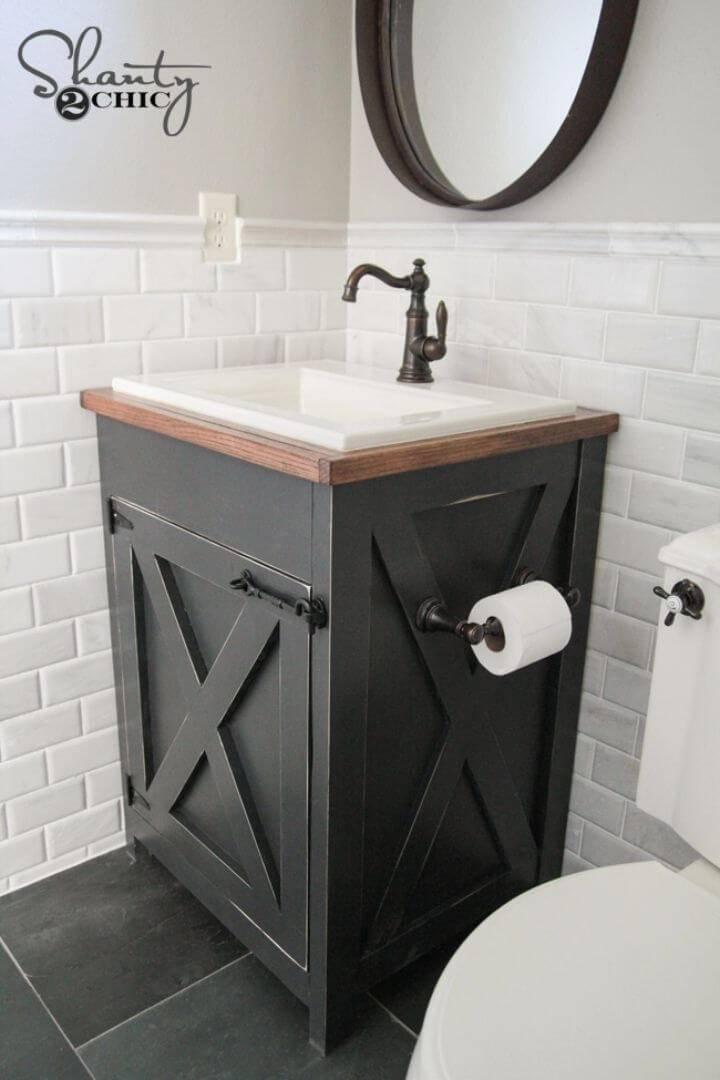 How to Build a Farmhouse Bathroom Vanity