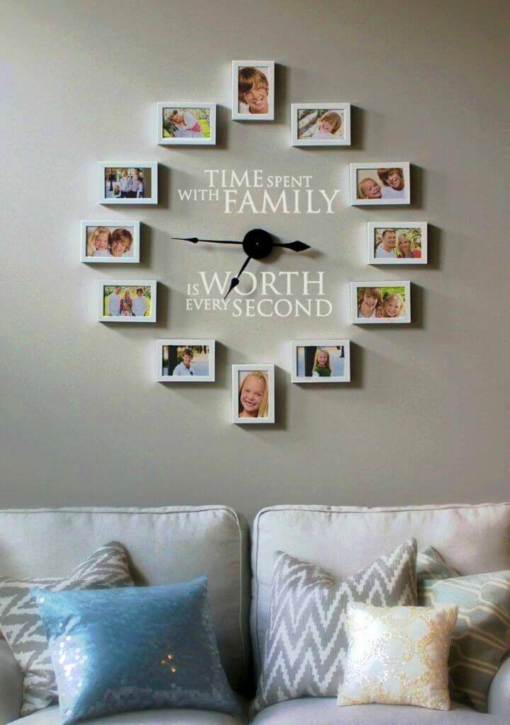 How to Create a Photo Wall Clock DIY