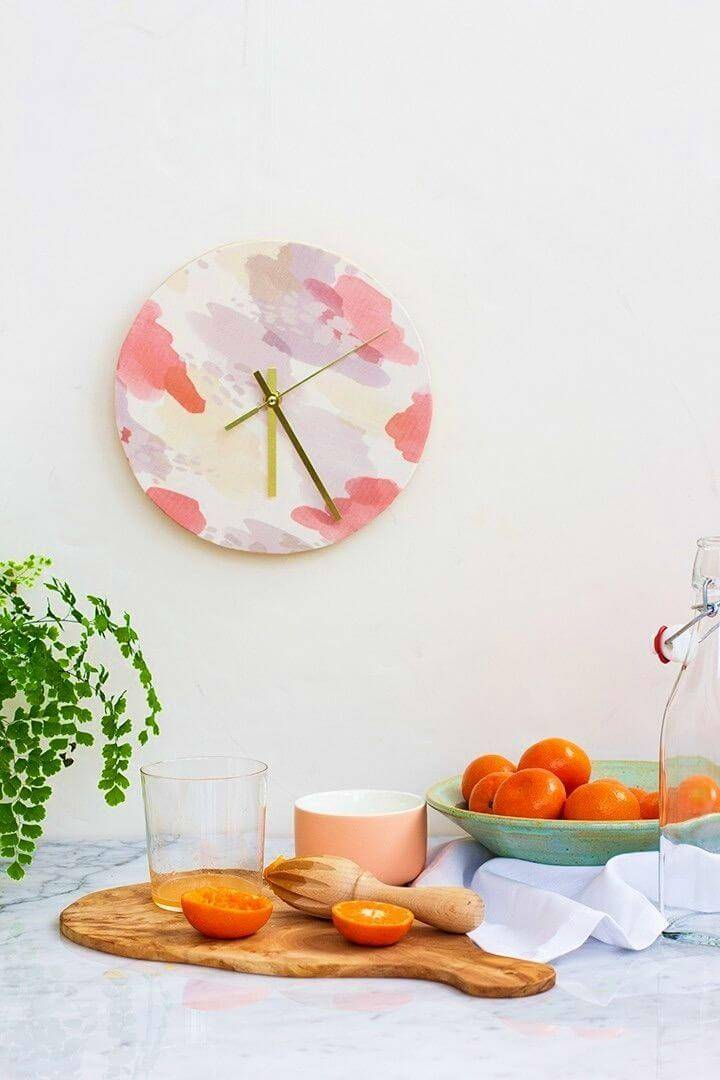 How to DIY Fabric Covered Clock