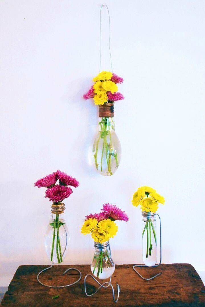 How to DIY Light Bulb Vase
