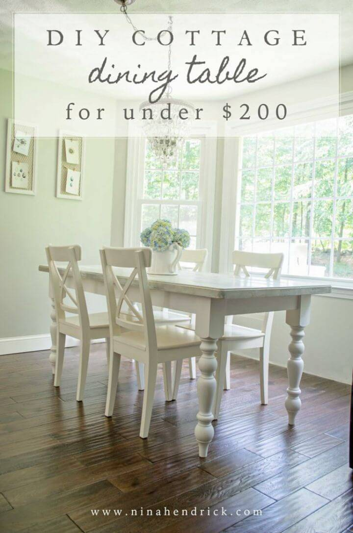 How to Make Cottage Dining Table