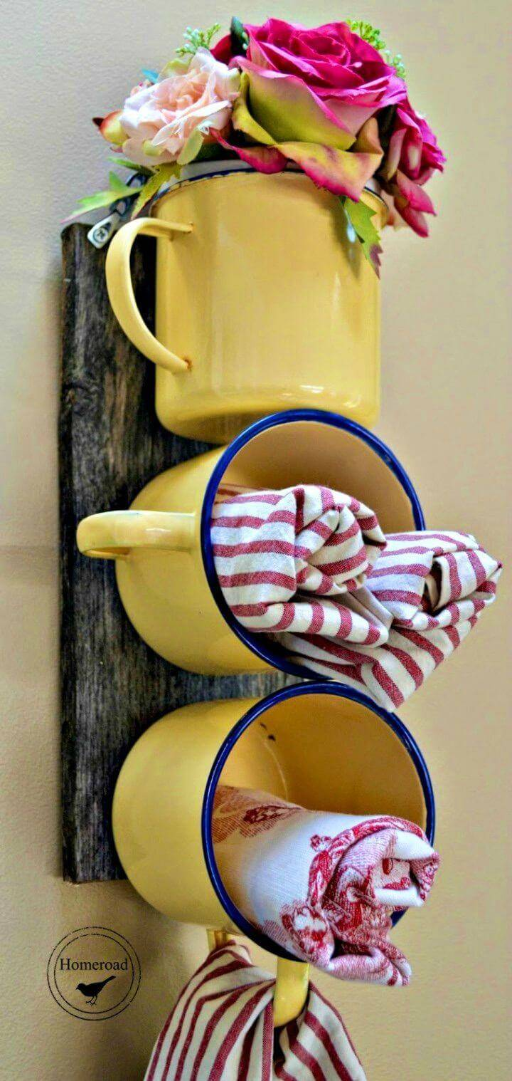 How to Make Enamel Mug Organizer
