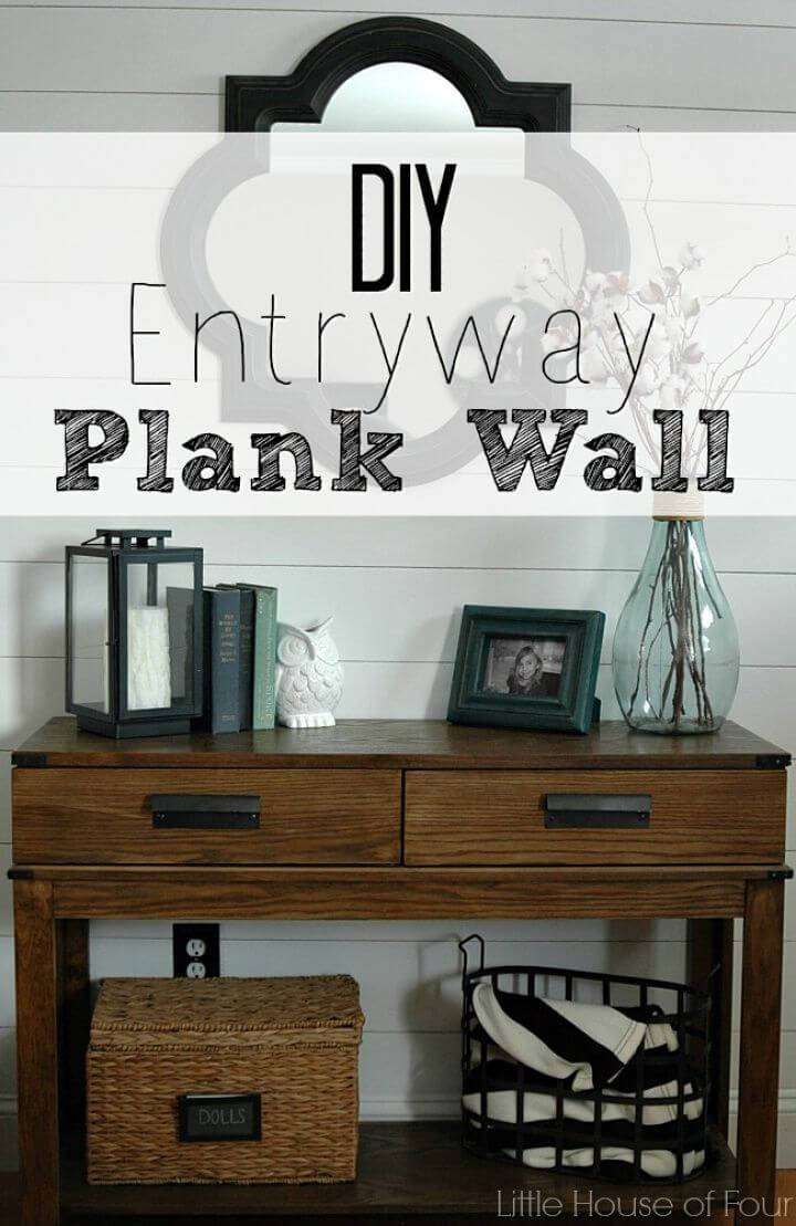 How to Make Entryway Plank Wall