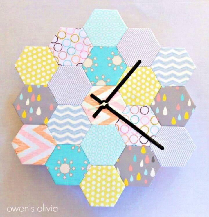 How to Make Fat Quarter Hexagon Clock