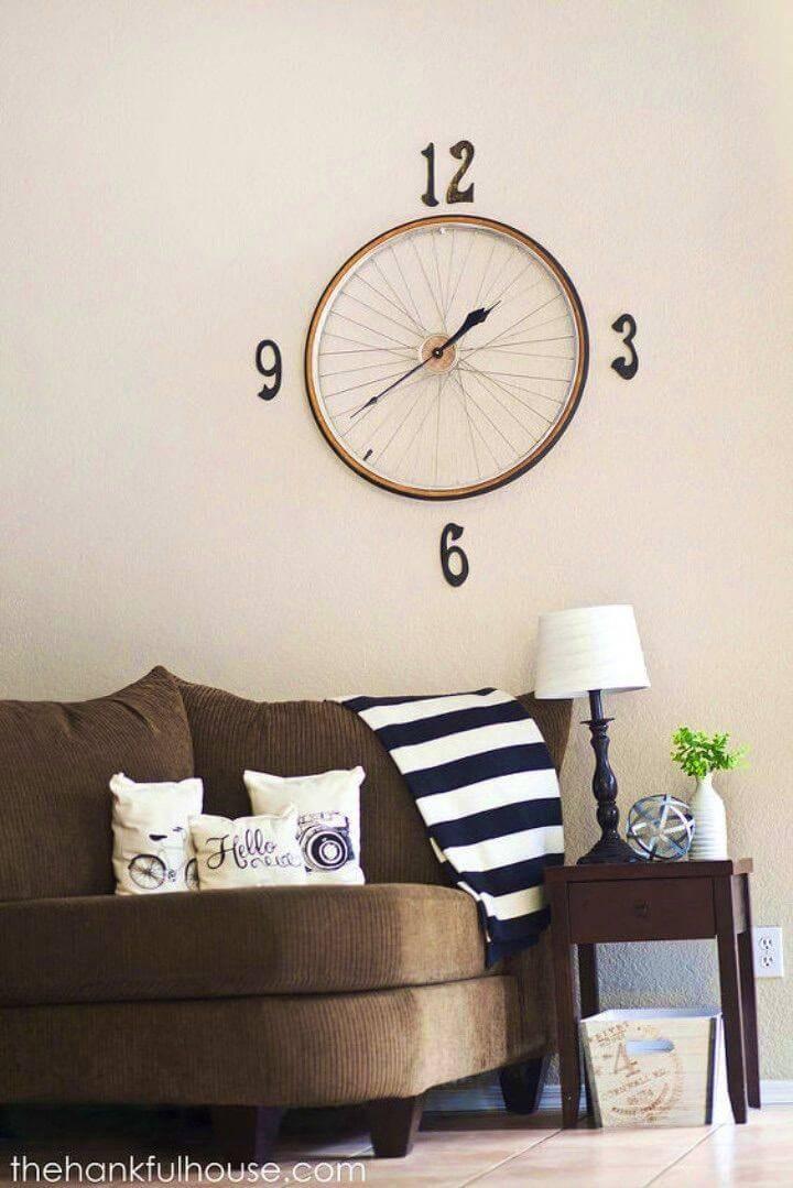 How to Make Vintage Bicycle Wheel Clock