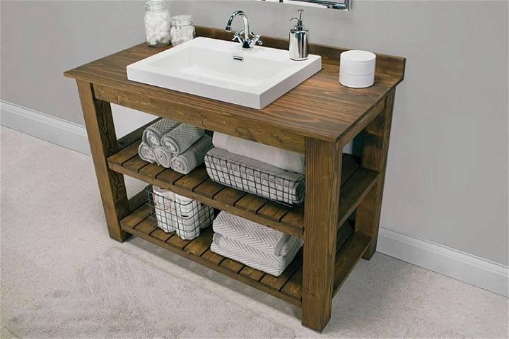 How to Make a Rustic Bathroom Vanity