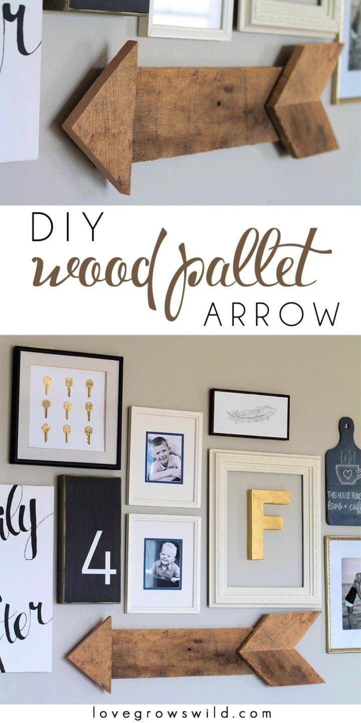 Incredible DIY Wood Pallet Arrow