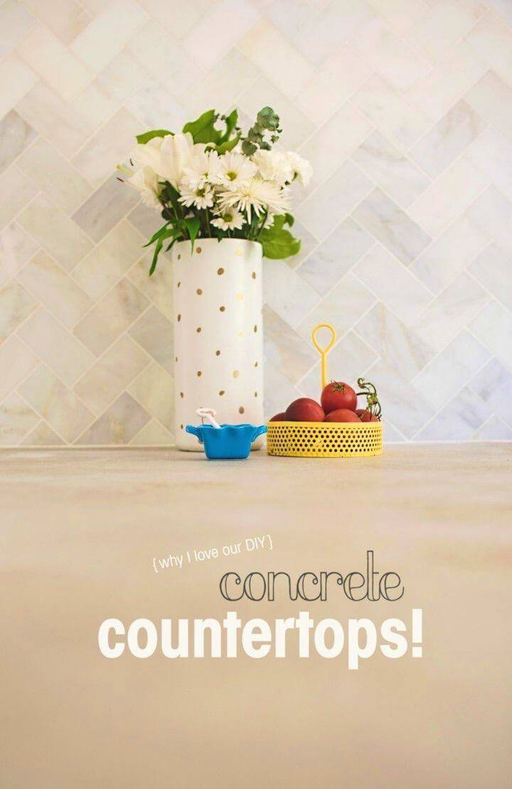 Inexpensive DIY Concrete Countertops