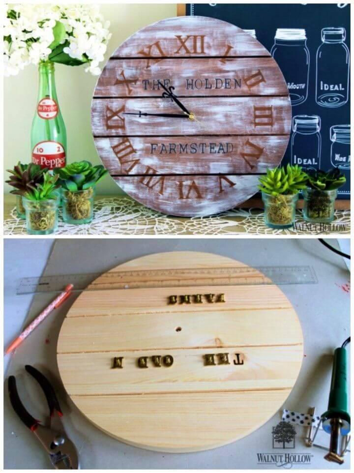Inexpensive DIY Farmhouse Clock