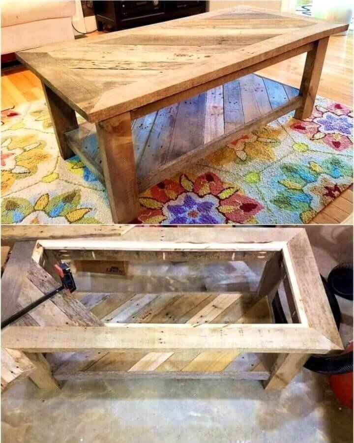 Inexpensive DIY Pallet Coffee Table