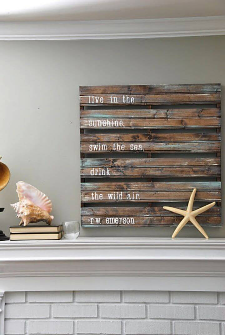 Inexpensive DIY Pallet Sign