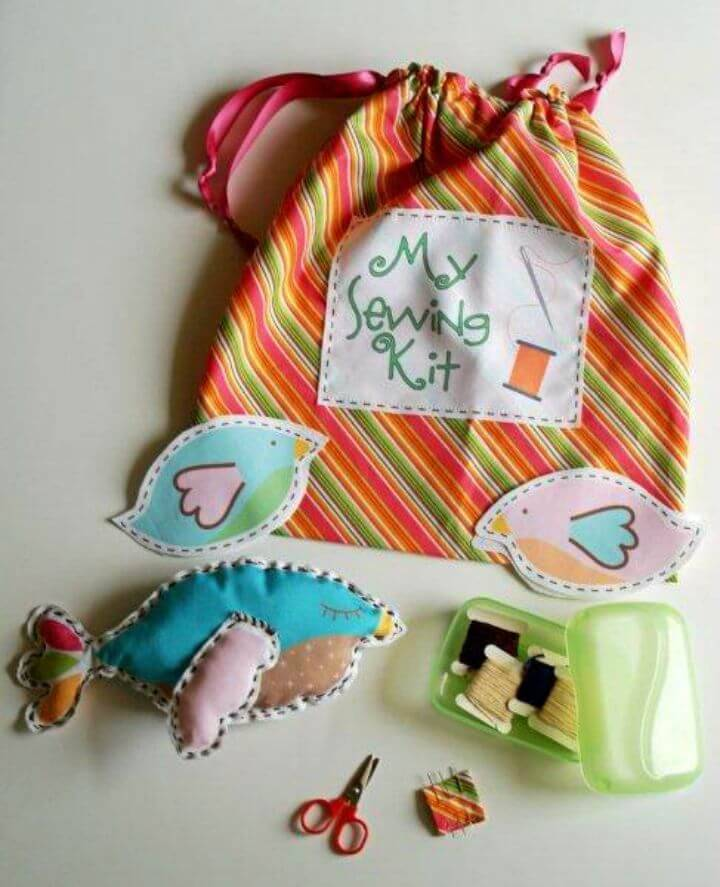 Kids Sewing Kit from the Land of Nod