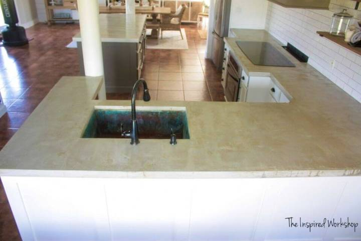 Long lasting DIY Concrete Countertops