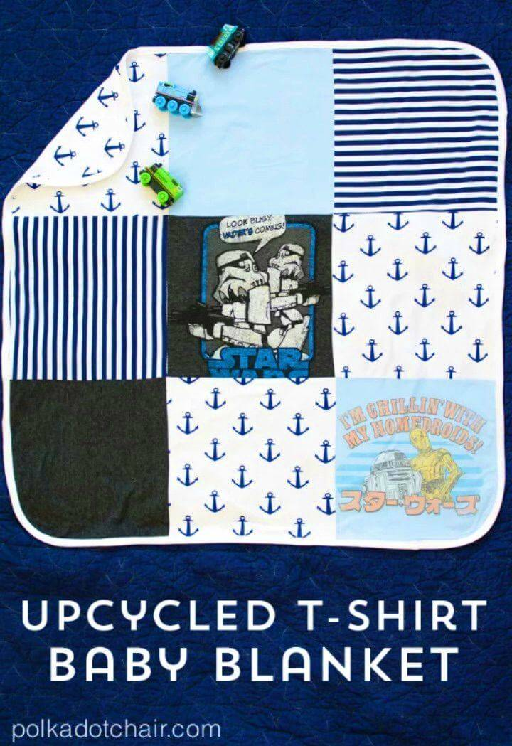 Make Baby Blanket Using Upcycled T shirts