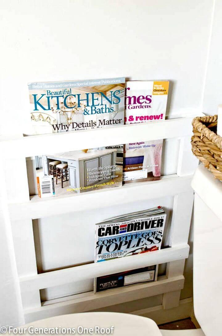 Make Bathroom Magazine Rack