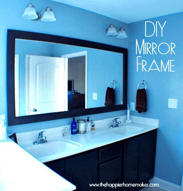 Make Bathroom Mirror Frame with Molding