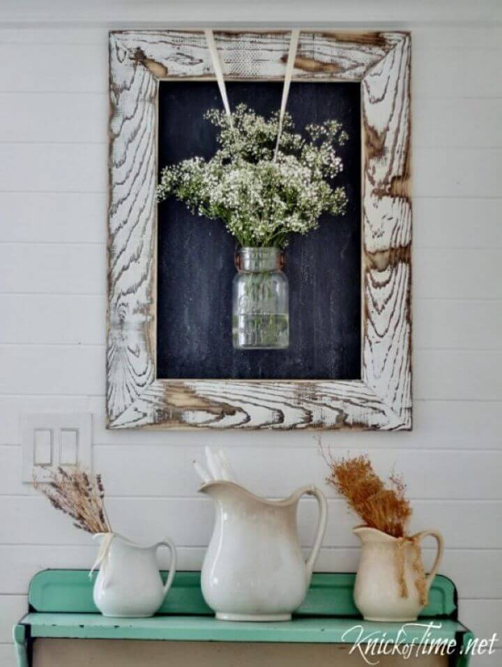 Make Farmhouse Chalkboard with Rustic Wooden Frame