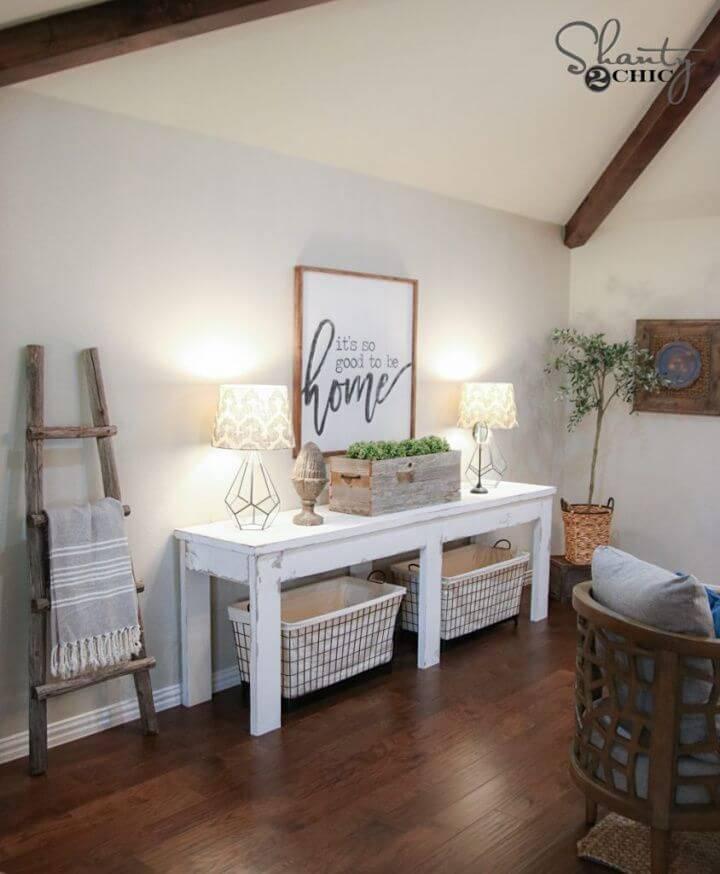 Make Farmhouse Console Table Under 40