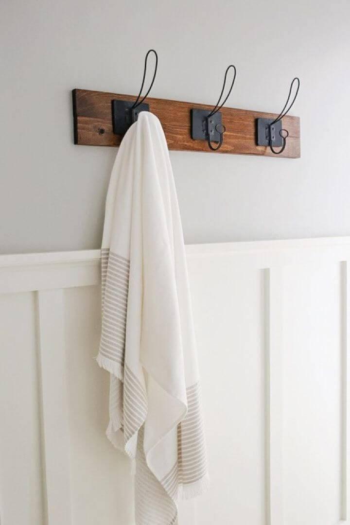 Make Farmhouse Style Towel Rack