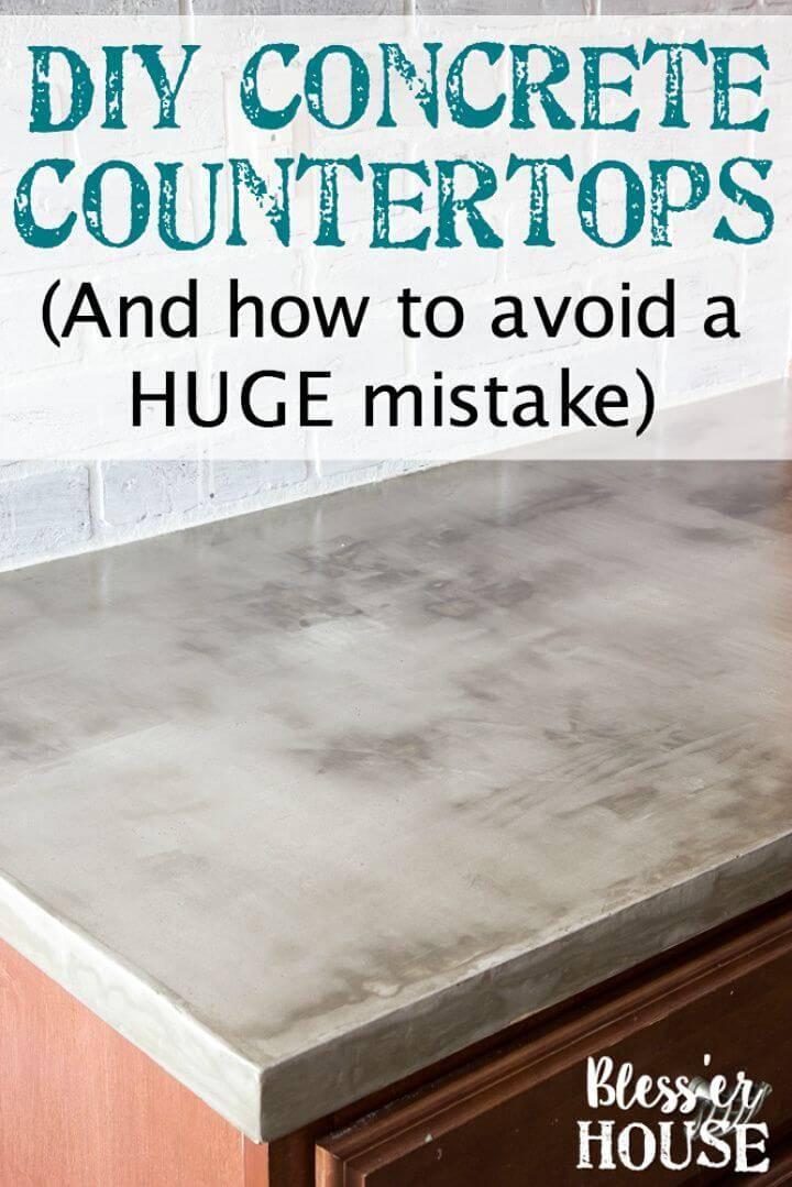 Make Feather Finish Concrete Countertops 1