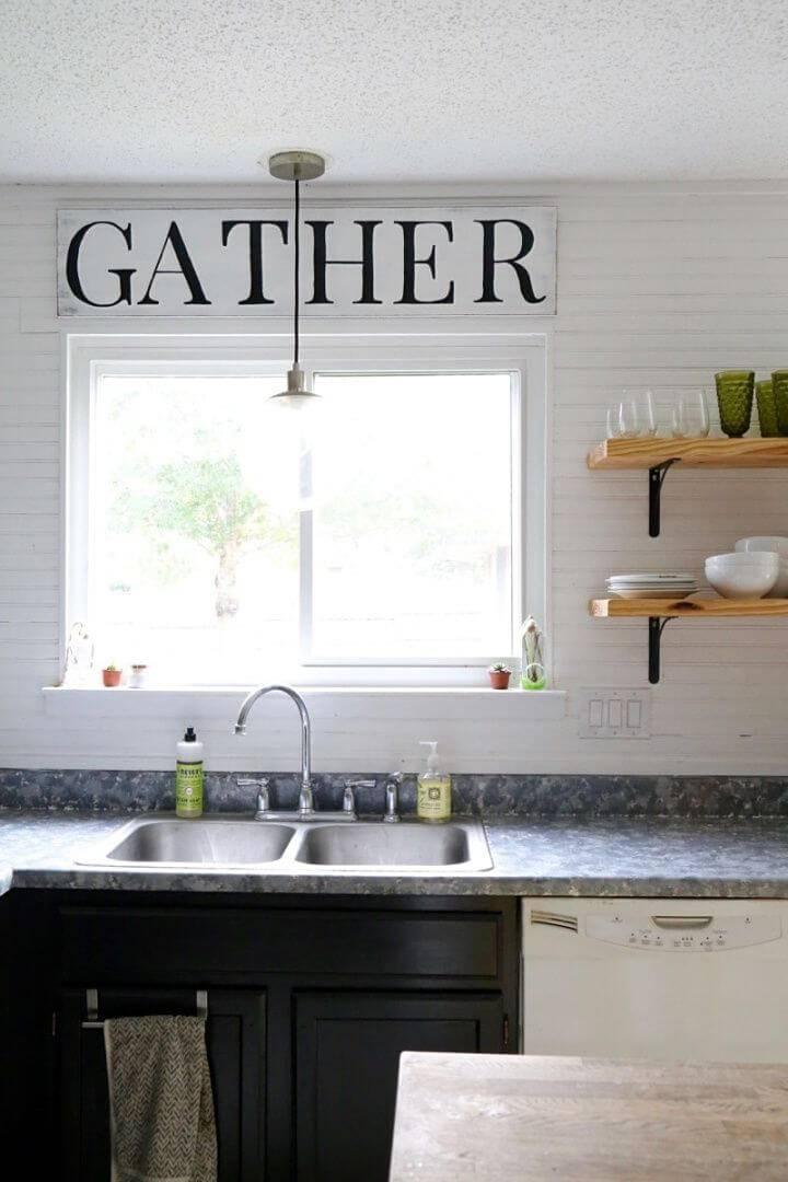 Make Fixer upper Inspired Kitchen Sign