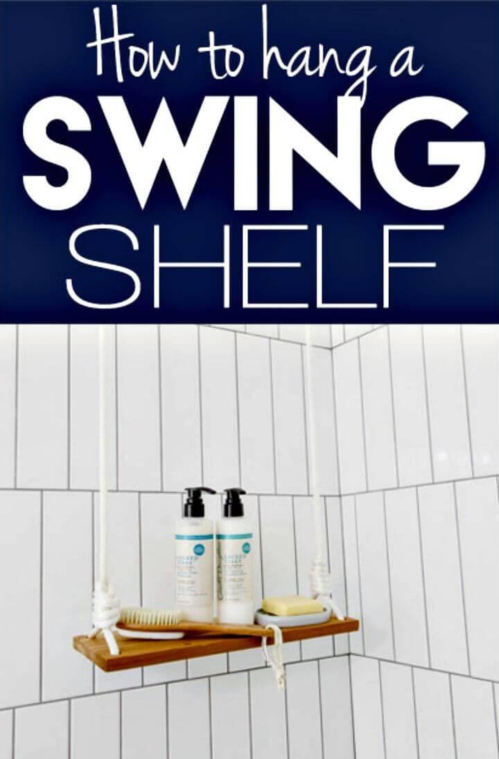 Make Hang A Rope Swing Shelf
