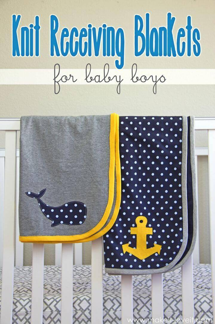 Make Knit Receiving Blankets for Baby Boys