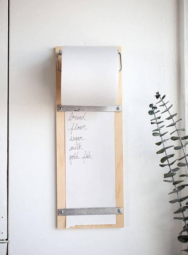 Make Magnolia Inspired Wood Shopping List Pad