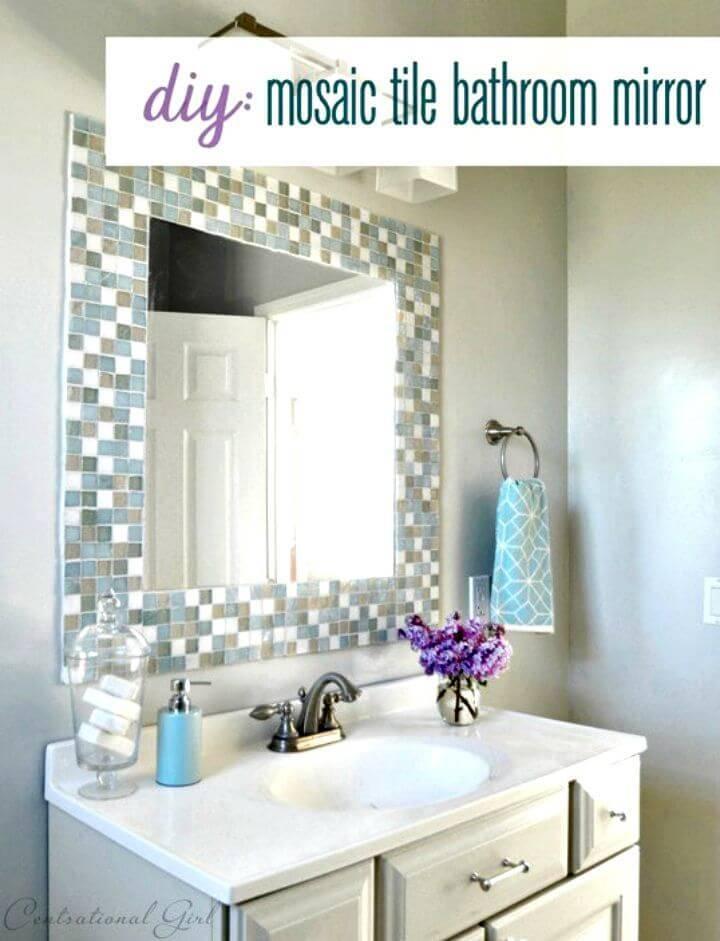 Make Mosaic Tile Bathroom Mirror