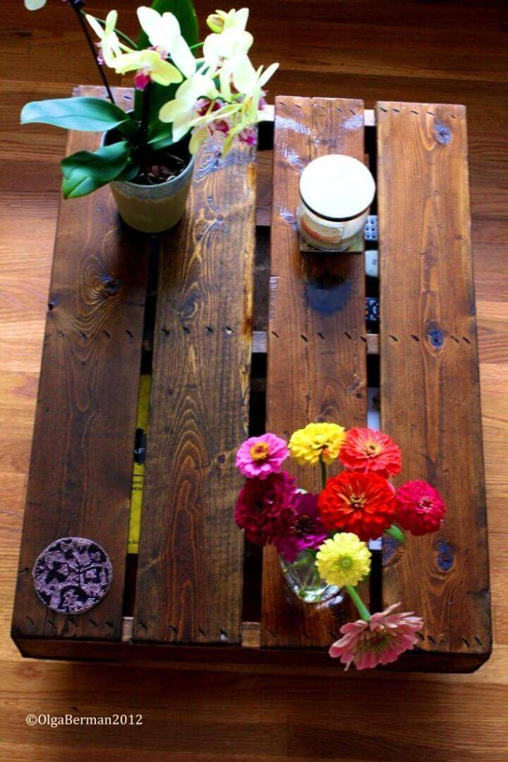 Make Your Own Pallet Coffee Table 1