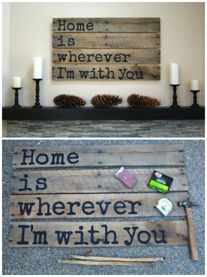 Make Your Own Wood Pallet Sign