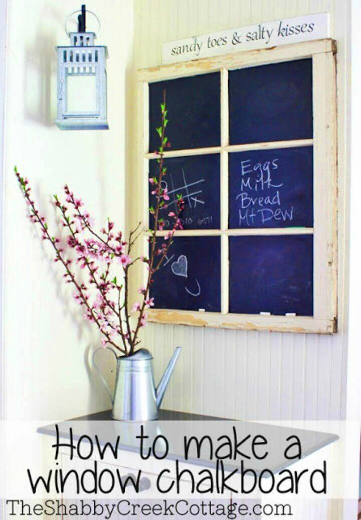 Make a Chalkboard Out of an Old Window