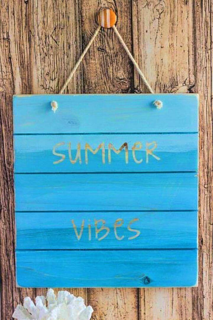 Make a Summer Vibes Wood Pallet Sign
