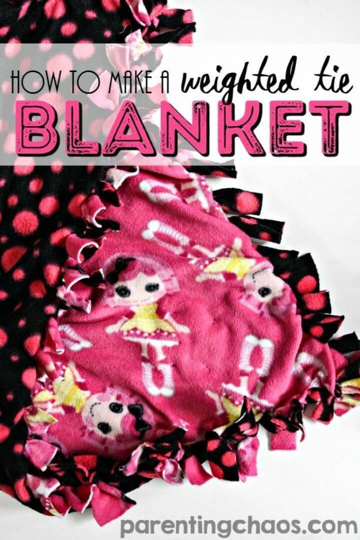 Make a Weighted Tie Blanket