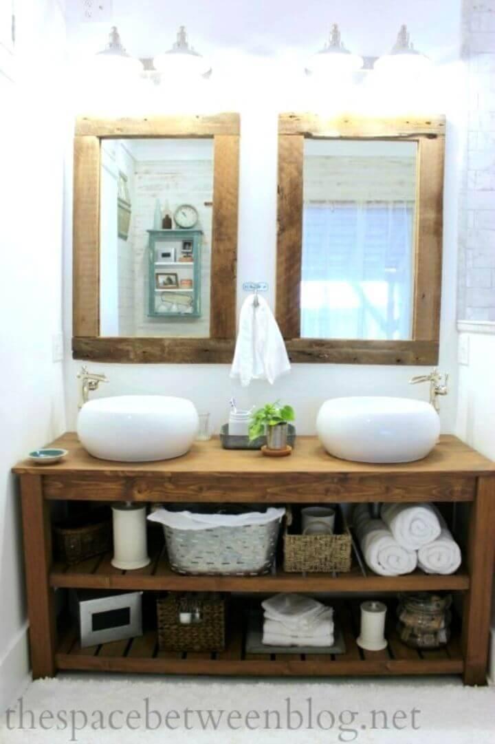 Make a Wood Vanity In The Master Bathroom