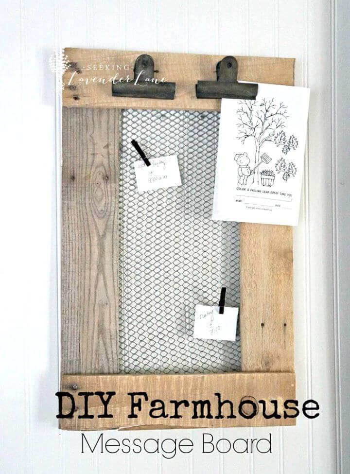 Quick DIY Farmhouse Message Board