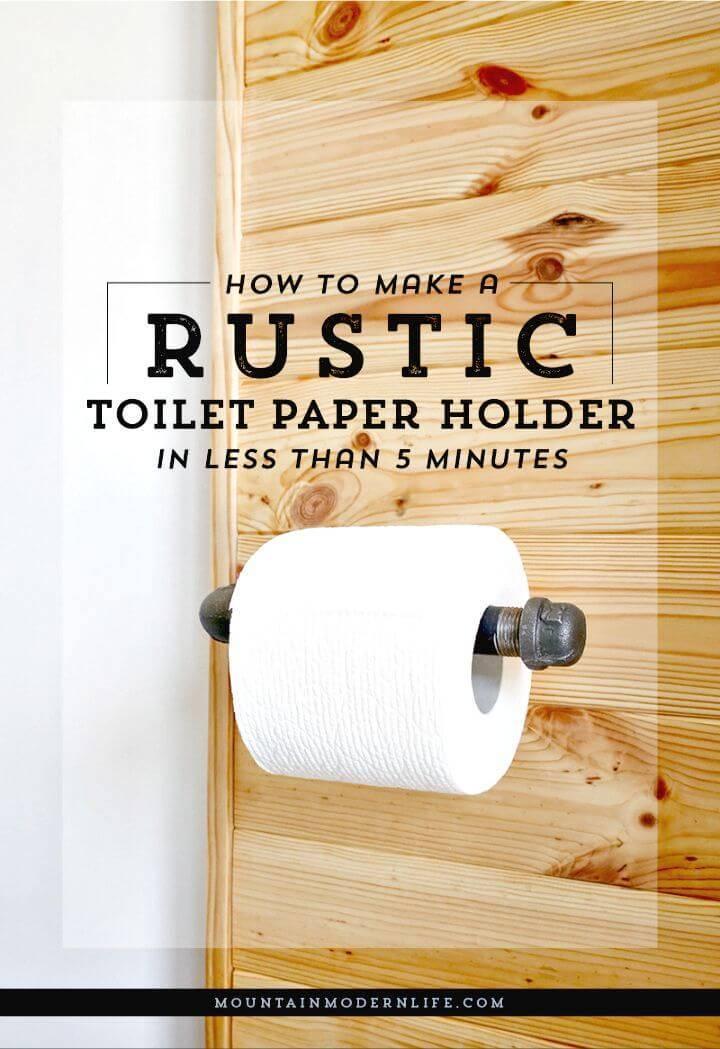 Quick DIY Rustic Toilet Paper Holder