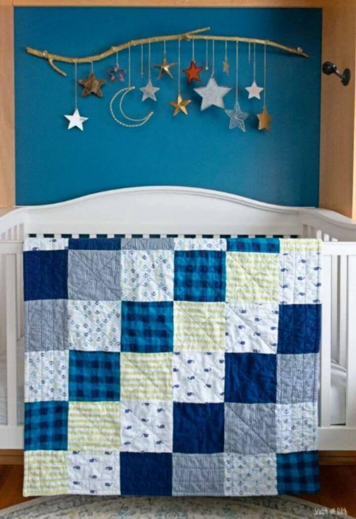 Simple DIY Receiving Blanket Quilt