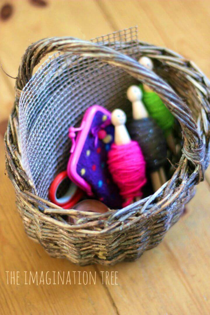 Simple DIY Sewing Basket for Kids