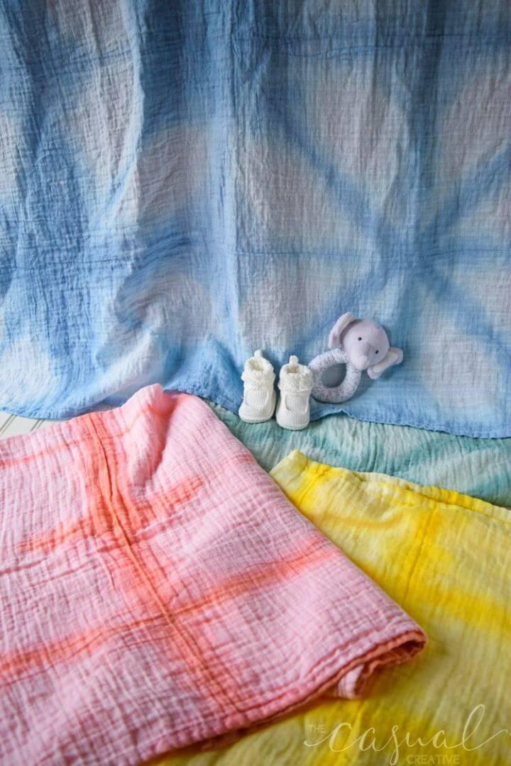Simple DIY Shibori Baby Blankets