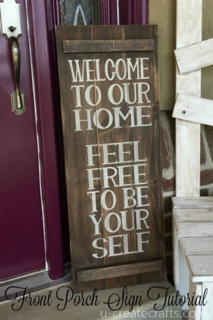 Simple and Easy DIY Welcome Pallet Sign